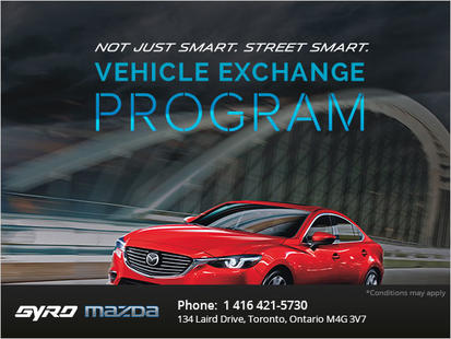 Take advantage of Gyro Mazda's Vehicle Exchange Program
