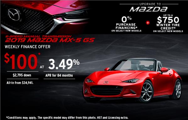 Upgrade to Mazda 2019 MX-5 Today!