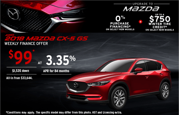 Upgrade to Mazda 2018 CX-5 Today!