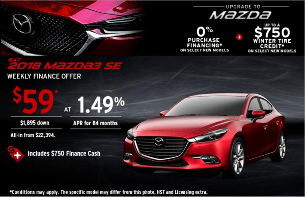 Upgrade to Mazda 2018 Mazda 3 Today!