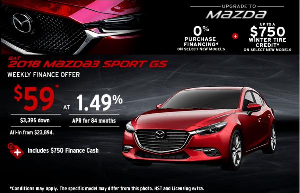 Upgrade to Mazda 2018 Mazda 3 Sport Today!